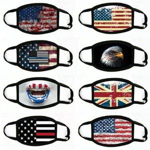 Mangelnde Masken US-amerikanische Wahlen Zubehör Staubdichtes Druckmaske allgemeinhin für Männer-Frauen-Flagge-Partei-Schablonen-Maske # 323