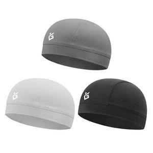 Moisture Wicking Cooling Skull Cap Helmet Inner Liner Beanie Cap Sweatband Hat Mesh Mens Motorcycle Helmet Inner Caps Anti-Sweat