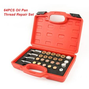 64PCS Oil Pan Thread Repair Set Automotive Crankcase Gearbox Drain Plug Tool With a Box for Easy Storage and Transport