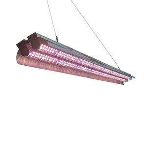 Doppia tubi HA T5 LED Grow Lights, 2ft 3ft 4ft Spectrum UV Sostituzione della luce solare UV, 72W Uscita ad alta uscita Apparecchio integrato con gancio a corda