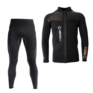 3мм неопрена Мужчины Гидрокостюмы куртка с длинным рукавом серфинг куртка штаны Большой