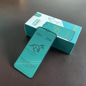 2020 New Swift Cheval New 21H 5G + Plein écran colle couverture en verre trempé protecteur pour Iphone12 Samsung A01 hw Y8S Y5P 25PCS Dans une boîte au détail