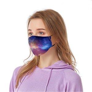 Máscaras Ot Venta reutilizable unisex de algodón Tela Válvula PM2,5 Wasable Wit Filtro Dener Impreso Fa máscara f # 189 # 413
