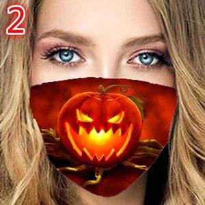renkli yüz maskesinin yansimasiz pamuk Cadılar Bayramı kabak kafatası moda yüz maskesi Asma kulak nokta kişilik parıltı toz maskesi katmanları