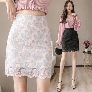 pwwNn кружева женщин лета 2020 нового хип-завернутые One-Step платья Lace 0BVGB талии Slimming skirt- высоковольтная линия элегантная один шаг юбка