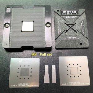 AMAOE CPU Manyetik Reballing Platformu A8, A9, A10 A11 A12 Reballing Kiti ile BGA Stencil Vxd3 #