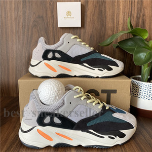 Top Quality Kanye West Scarpe da corsa 700 corridore dell'onda Uomo Donna Sport Sneakers inerzia riflettente Tephra Solid Utility Grigio Nero Vanta Racer