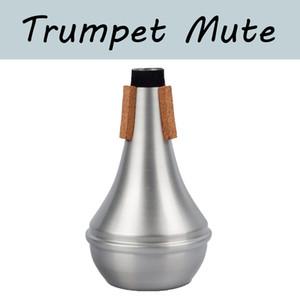 NAOMI Trumpet Mute Aluminum Trumpet Mute Trompete Straight Practice Trumpet-III