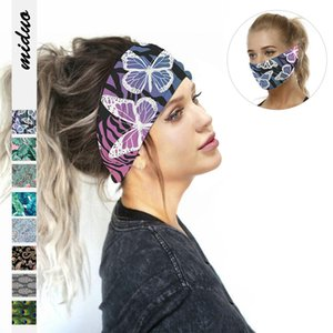 Butterfly digital printing women's sports yoga sweat-absorbent scarf multifunctional outdoor dust mask New