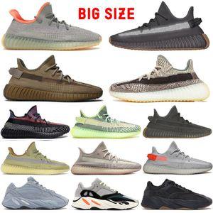 Top Men Running Shoes Fanale posteriore Cinder V2 progettista della scarpa da tennis delle donne 700 Solid Grey Vanta Blu Zebra Yecheil Marsh Kanye West riflettente Terra
