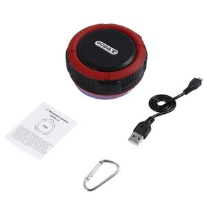 OCDAY C6 Plastic Portable Wireless Speaker With Calls Handsfree and Suction Cup Waterproof Shower Speaker