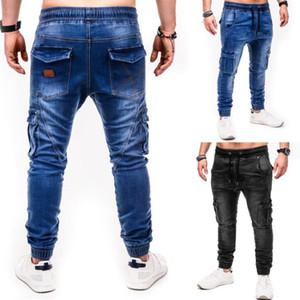 Jeans Men Pants Casual Cotton Denim Trousers Multi Pocket Cargo Jeans Men New Fashion Denim Pencil pants