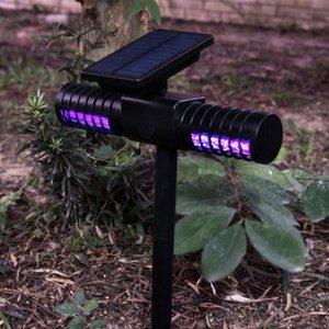 Solar Mosquito Killer Whole Night Lamp Outdoor Villa Yard Garden Waterproof LED Light Lawn Camping Lamp Large Bug Zapper Light 6oqG#