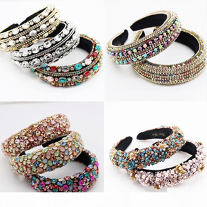 14 New Styles Baroque Full Crystal Headband Hair Bands for Women Colorful Diamond Headbands Hair Hoop Fashion Party Jewelry Accessories