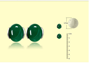 up-market high quality low price 2 pairs lots more color natural jade 925 silver lady's earings bb