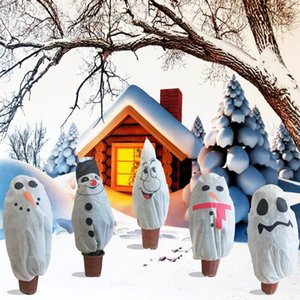 Protective Cover Reusable Coldproof Printed Winter Cute Christmas Tree Non Woven Fabric Pest Control Breathable Indoor Outdoor