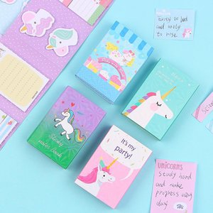 Notepad Cute Times N Stationery 6 Memo Pad Unicorn Memo Lovely Bookmark Sticky Party Gift Folding Notes XdlaG yh_pack