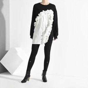 womens Hoodies LANMREM 2020 new fashion females long sleeve shirt women hoodies Vestido Drop Shipping Good Quality