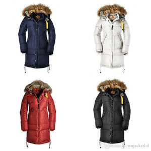 High Quality Winter Women Jackets Down Jacket Coats Raccoon Fur Collar Hooded Outdoor Keep Warm Winter Jacket Doudoune Outerwear
