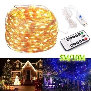 2 10 20M Strip Light Led String Light Cooper Remote Control Xmas Garland Holiday Fairy Wedding Party Christmas Decoration