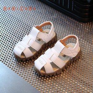 Bambini calza sandali di estate alta qualità Vera pelle Ragazzi E Ragazze della spiaggia Sandali muscolo della mucca pattini inferiori causale bambini Y102