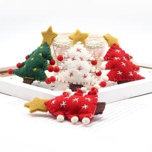 Pequeño árbol de navidad DIY creativo colgante de fieltro de lana regalos de Navidad Artesanía Corona de Navidad ramo de vacaciones mayorista