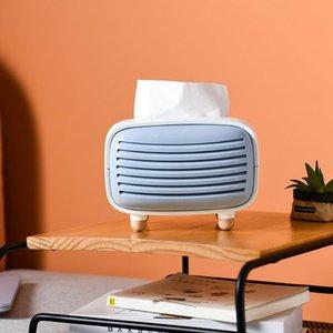 Mini Radio Shape Stand Tissue Holder Storage Box Container Home Office Restaurant Desktop Decoration
