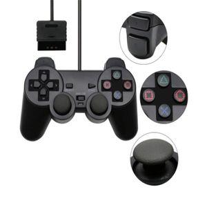 Atacado Choque Wired Controlador Joypad Para PS2 Vibration Joystick Gamepad Game Controller para PlayStation 2