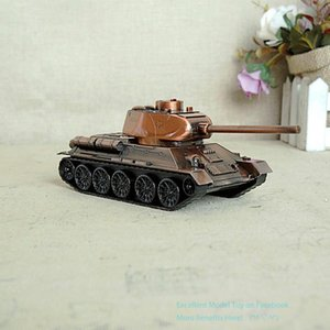 SMEI Iron& Metal Alloy Tank Model Toy, Rotatable Battery, 3 Colors, Handmade Ornament, for Christmas Kid Birthday Boy Gift, Collecting, USEU