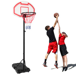 Portable Kids Youth Basketball Court Goal Hoop Pool w Wheels Indoor Outdoor Adjustable Rim for Teenager