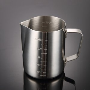 30oz Milk Jug Stainless Steel Milk Frothing Coffee Mugs Milk Frother Pitcher Latte Art Foam Tool Espresso Jugs Wholesale