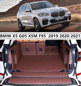 For X5 G05 X5M F95 2019 2020 2021+ Full Rear Trunk Tray Liner Cargo Mat Floor Protector Foot Pad Mats Embroidery Leather DNMW#
