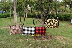 20pcs lot wholesale plaid leopard sunflower crossbody bag clutch lady handbag shoulder women bags