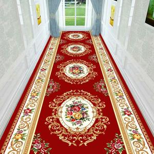 유럽 긴 복도 러그와 카펫 미끄럼 방지 계단 카펫 홈 바닥 주자 매트 침대 옆 호텔 입구 / 복도 / 통로 바닥