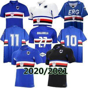 2020 2021 Sampdoria camisa de futebol de casa Sesy TERCEIRO 20 21 Murillo Linetty Jankto Yoshida Maroni Gabbiadini uniformes de futebol camisas TAILÂNDIA