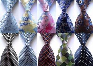 New Classic Paisley Dot Check Floral Mix Color Tie JACQUARD WOVEN 100% Silk Men Formal Business Wedding Party Necktie