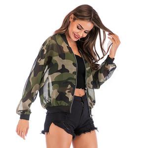 MISSKY Printemps Automne Manteau Femme Veste de camouflage Casual Outwear protection contre le soleil pour Camping Randonnée Tops Femme