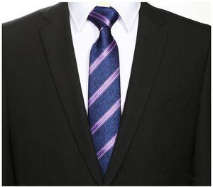 2018 Männer Frauen 7cm dünne dünne Hochzeit Geschäft Individuelle Krawatte Seidenkrawatte gestreifte lila Krawatte cravatta uomo kravat erkek kravatte
