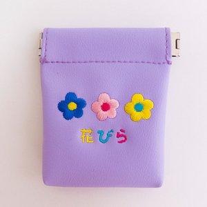 Caso chiave fiore del ricamo Stampato Carino Candy in pelle di colore auricolare Pocket Coin Purse Pu Headphone Bag Per Ragazze borsa del cambiamento