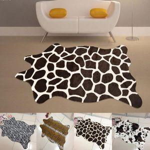 110*75 CM Zebra Leopard giraffe tiger Cow Print Rug faux Cowhide Tricolor Cowhide Rug Animal printed carpet
