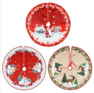 Arbre de Noël Jupes Père Noël Bonhomme de neige ronde arbre Jupe XAMS Parti Ornements Décoration de Noël Ornements Accueil Fournitures DHF1674 Party