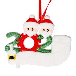 2020 ornamentos colgantes fiesta de Navidad de cuarentena personalizado regalo de la decoración de productos de bricolaje nombre de Navidad fuera de la Florida PVC 3D
