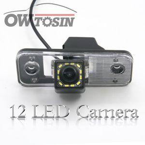 12 LED light Car Reverse Rear View Camera For Santa Fe IX45 2004-2012 Azera Grandeur 2011-2020 Car Parking