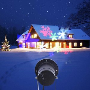 LED Snowflake Laser Projection Christmas LED Projector Light Disco Stage Light Laser Snowflake Projection Outdoor Waterproof