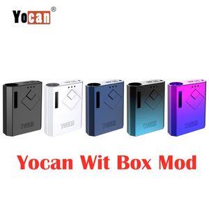 Otantik Yocan Wit Kutusu Mod 500mAh Onceden VV Vape Pil ecig Modlar USB Şarj Kiti 510 Kalın Petrol Kartuş sepetlerini için% 100 Orijinal DHL Ücretsiz