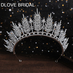 Luxury Crystal Bridal Crown Wedding Party Hair Accessory New Style Leaves Tiara Headpieces
