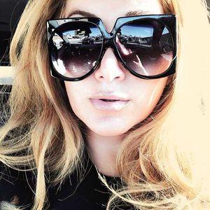 HBK площади Крупногабаритные Солнцезащитные очки конструктора повелительниц Солнцезащитные очки Женский Мужской Vintage Shades Gafas óculos