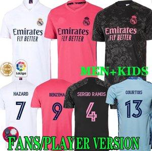20 21 ريال مدريد لكرة القدم بالقميص الثالث BENZEMA أخطار SERGIO RAMOS ISCO camiseta كرة القدم قمصان زي الرجال الاطفال عدة FANS PLAYER VERSION
