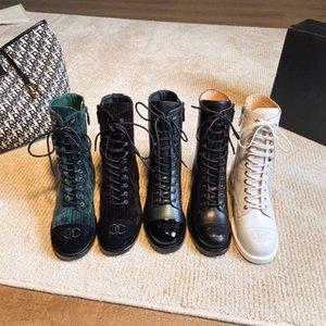 Chanel botas 2020the nova Martin artesanais sapatos femininos de couro botas casuais botas individuais xy200905