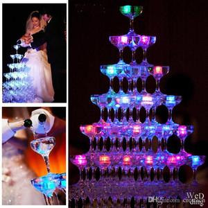 cubos de gelo simulação Led Luzes Polychrome flash gelo líquido Sensor de incandescência Ice Cube submersíveis Luzes Decor Light Up Bar